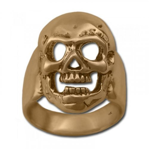 Masonic Skull ring - Memento Mori ring, antique finish - Silver and Gold