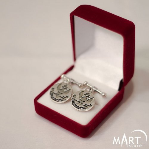 Custom Cufflinks - Freemason Scottish Rite cufflinks - Silver and Gold