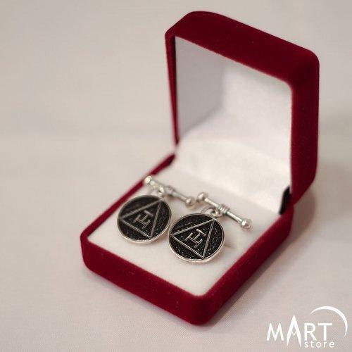 Custom Masonic Cufflinks - Holy Royal Arch, Silver/Gold