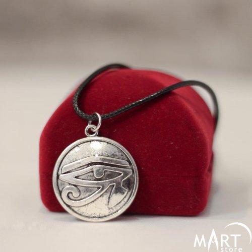 Egyptian Amulet - Eye of Ra, Eye of Horus Pendant, Round Shape