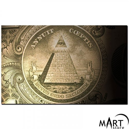 Freemason Illuminati Canvas - Pyramid, All-Seeing Eye