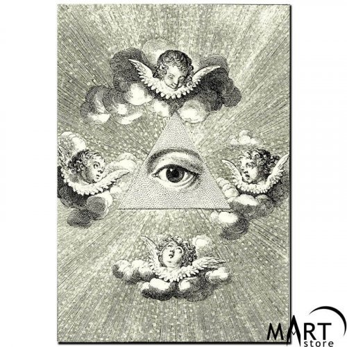 Freemason Masonic Canvas - The All-Seeing eye of God