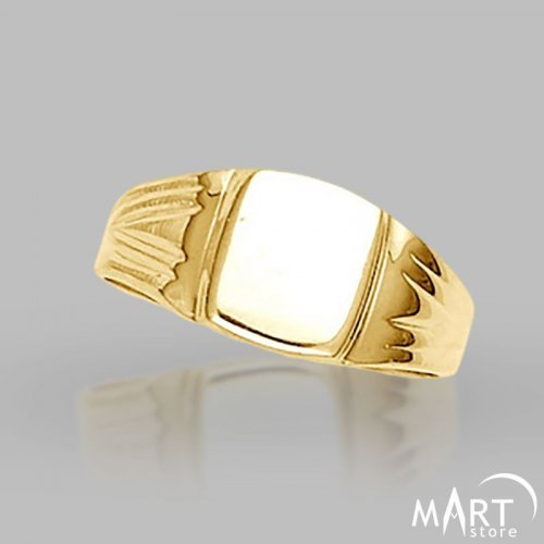 Custom Initial Signet Ring - Monogram ring The Lizard - Silver and Gold