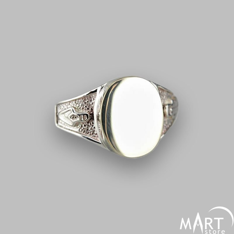 Personalized Initial Masonic Signet Ring Plumb And