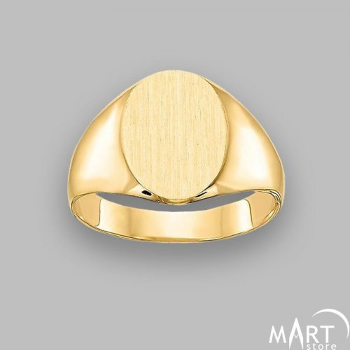 Personalized Monogram Ring - Ellipse Initial Name Ring - Silver and Gold