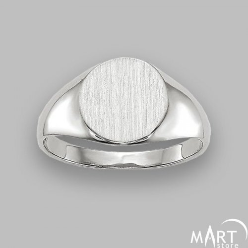 Personalized Monogram Ring - Oval Initial Name Ring - Silver and Gold