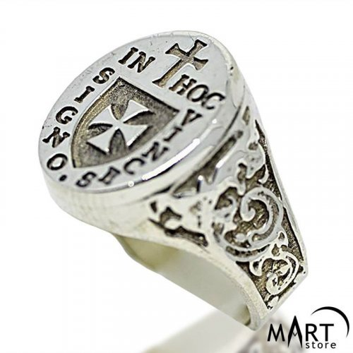Templar knight of christ Knights templar Men signet seal Historical jewelry Catholics rings York Rite Crusaders Templiers Warriors Masonic