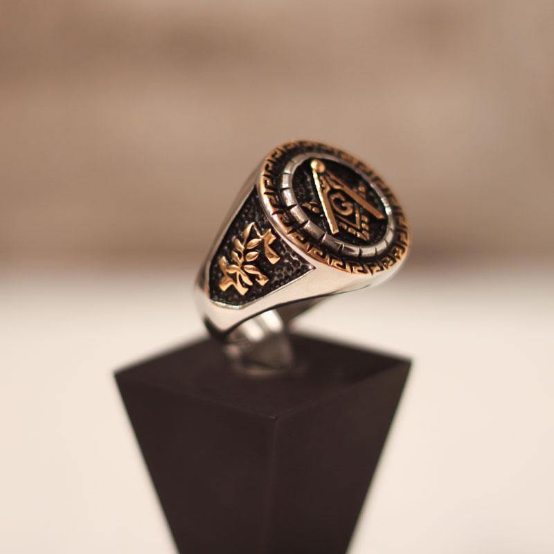 freemason knights templar masonic ring silver gold