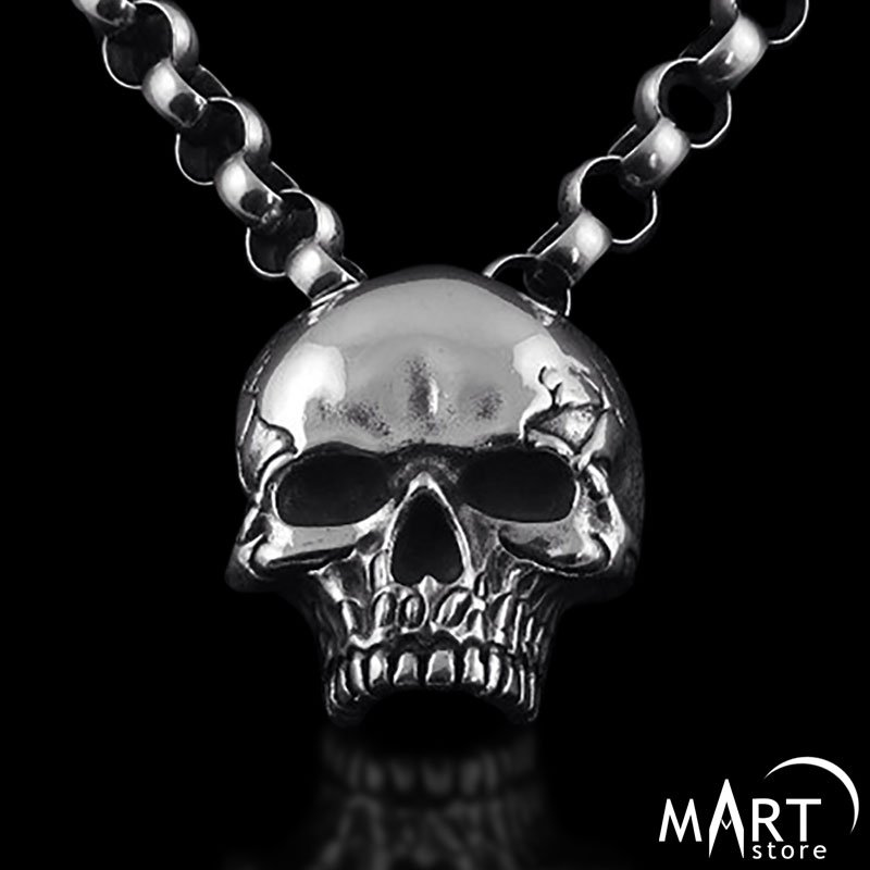 gold pendant detail necklaces jewellery skull en gunmetal c