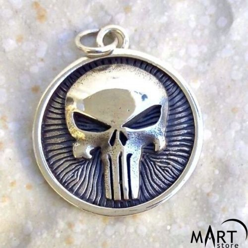 Pendant Skull Jewelry - Masonic Skull - Silver and Gold
