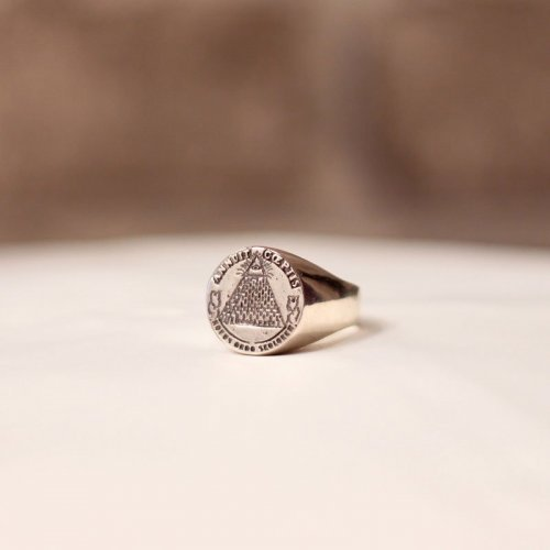 Masonic Ring - Illuminati Pyramid, All-Seeing Eye - Silver and Gold