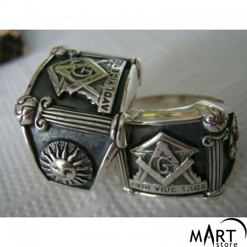 Masonic Ring - Master Mason Ring, United Grand Lodge of England - Silver and Gold