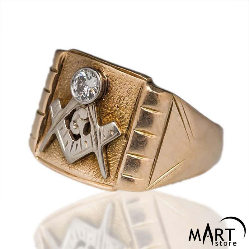 96f44f4b07329 Custom Masonic ring - Blue Lodge Masonic Ring Gemstone Vintage - Silver and  Gold