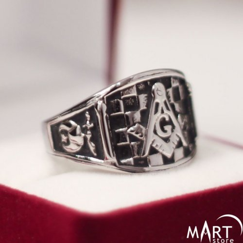 Custom Masonic Ring - Masonic Lodge Ring Shriners Ring