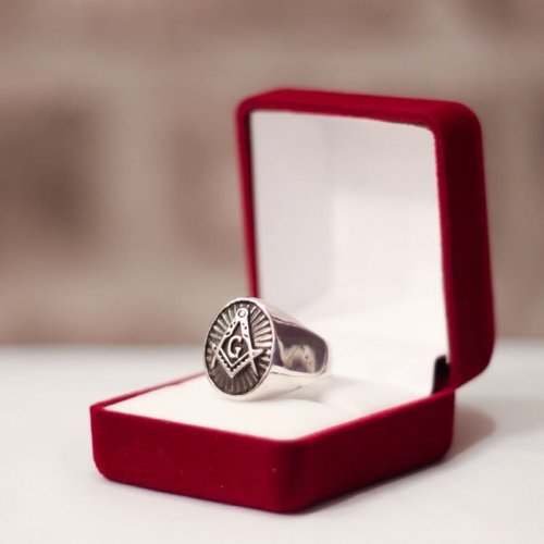Custom Masonic Ring - Oval Shape Masonic Ring