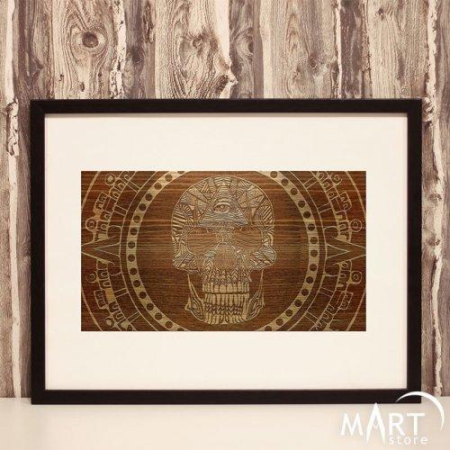 Freemason Masonic Poster - Memento Mori Skull, Eye of Providence