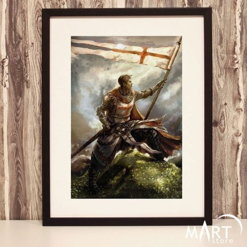 Crusader Poster, Freemason Wall Art Decoration - Conqueror
