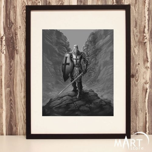 Crusader Poster, Freemason Wall Art Decoration - The Revenger