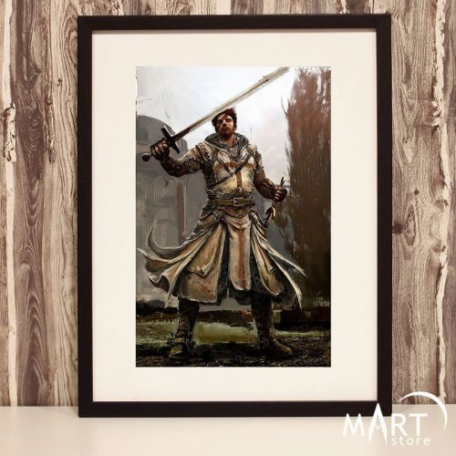 Crusader Poster, Freemason Wall Art Decoration - Armed Crusader 7