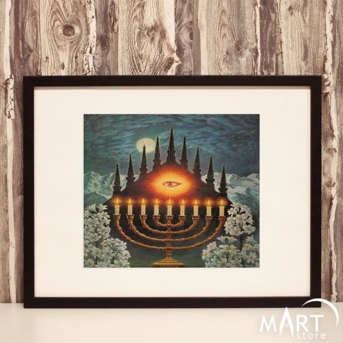 Masonic Poster, Freemason Wall Art Decoration - All-Seeing Eye and Pyramid