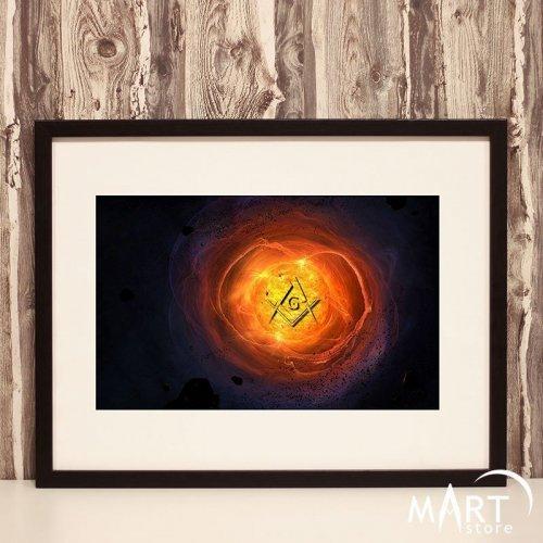Masonic Poster, Freemason Wall Art Decoration - The Sacrament