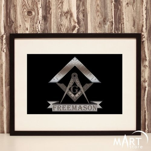 Masonic Poster, Freemason Wall Art Decoration - Fraternity