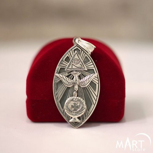 Occult Pendant - Aleister Crowley Kabbalah Jewelry - Silver and Gold