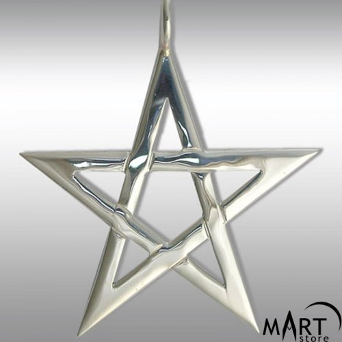 Pentagram pendant - Occult jewelry - Silver and Gold