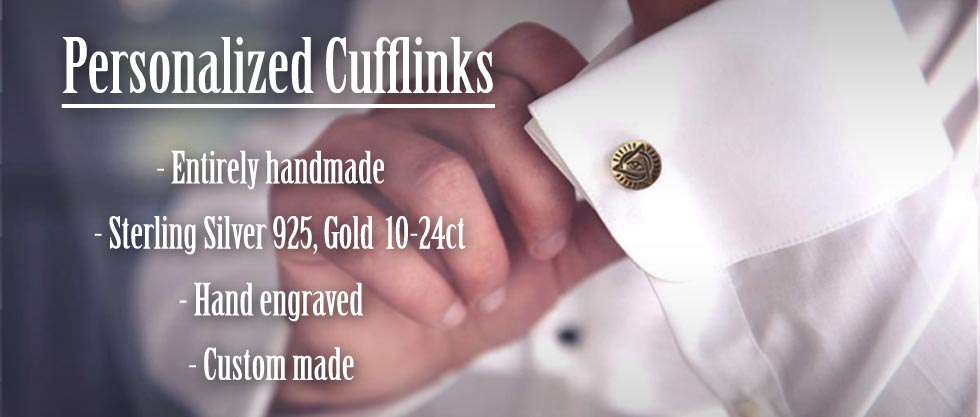Custom Cufflinks - Personalized Silver and Gold Cufflinks