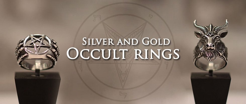 Sterling Silver and Gold handmade Occult Rings, Satanic Rings, Baphomet Rings, Pentacle and Pentagram Rings