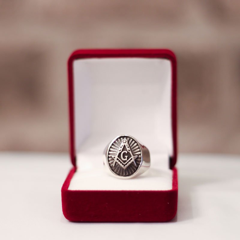 Silver Masonic Ring - Blue Lodge Masonic Ring